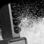 Home snow machine close up