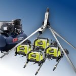 Quad-train snow making machine package