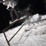 backyard snowboarding home snow making