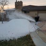 real snow making