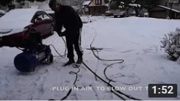 Snow Machine System Blow Out